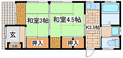 [一戸建] 兵庫県神戸市中央区下山手通8丁目 の賃貸【兵庫県 / 神戸市中央区】の間取り