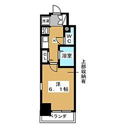 エステムコート京都烏丸II[3階]の間取り