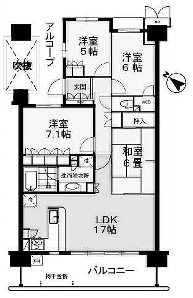 間取り(7階部分)