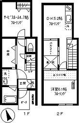 コート910鷹番[102号室]の間取り