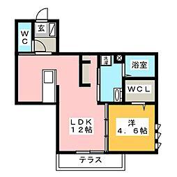 Maison Chosei 1階1LDKの間取り