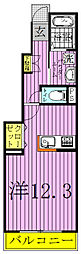 ロックガーデン森A・B[1階]の間取り