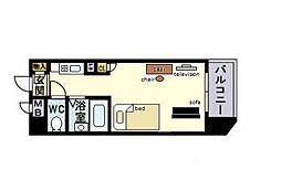 家具・家電付き ロマネスク平尾第3[10階]の間取り