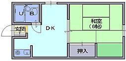 山田アパート[1F号室]の間取り