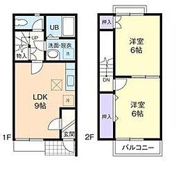 [テラスハウス] 神奈川県厚木市林3丁目 の賃貸【/】の間取り