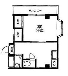 東京都江戸川区西瑞江5丁目の賃貸マンションの間取り
