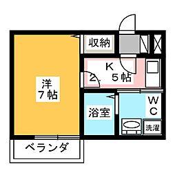 Studio Flat[1階]の間取り