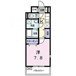 ラフレシール 新所沢[0301号室]の間取り