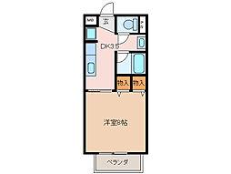 ルーラル勇[1階]の間取り