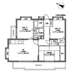 アルカサール東戸塚[2階]の間取り