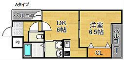 フジパレス清水丘II番館[1階]の間取り