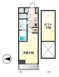 エステムコート名古屋栄デュアルレジェンド[7階]の間取り