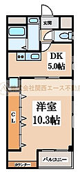 BLUESKY7 nakamozu(ブルースカイセブンナカモズ)[5階]の間取り