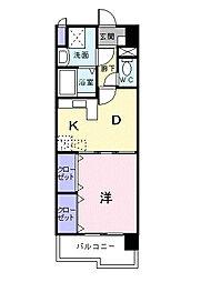 シャン・ド・フル−ル[8階]の間取り