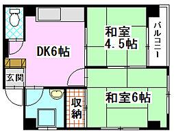 窪田ビル[3階]の間取り