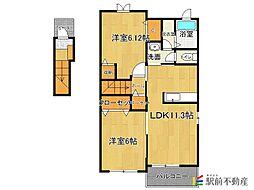 サンシャインマキC棟[2階]の間取り