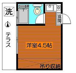 太子堂第一コーポ[1階]の間取り