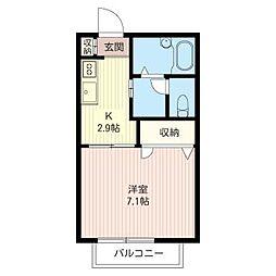 フレア上平塚II[2階]の間取り