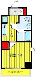 JR山手線 大塚駅 徒歩7分の賃貸マンション 4階1Kの間取り