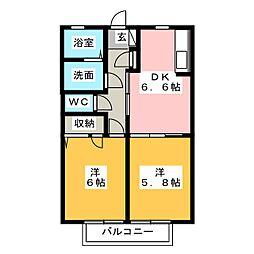 サンスプリングA・B[2階]の間取り