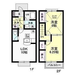 サースタウン II[2階]の間取り