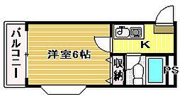 フォンタル津久野[405号室]の間取り