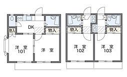 東戸塚第2[2階]の間取り