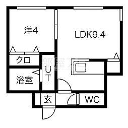 北海道札幌市中央区南七条西9丁目の賃貸マンションの間取り