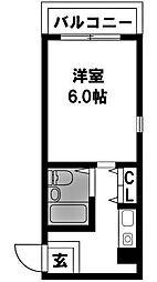 ビスタ西中島[103号室]の間取り