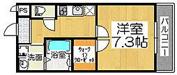 フジパレス石津川サウス[2階]の間取り