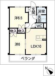 サントピア21A棟[3階]の間取り