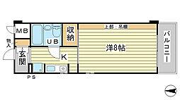 O−6マンション[304号室]の間取り