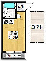大阪府大阪市城東区諏訪2丁目の賃貸マンションの間取り