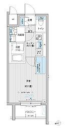 東急大井町線 等々力駅 徒歩10分の賃貸マンション 4階1Kの間取り