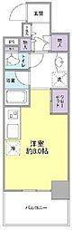 横浜市営地下鉄ブルーライン センター北駅 徒歩5分の賃貸マンション 6階ワンルームの間取り