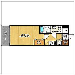 ピュアドーム箱崎アートリア[10階]の間取り
