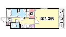 KTIレジデンス神戸元町[103号室]の間取り