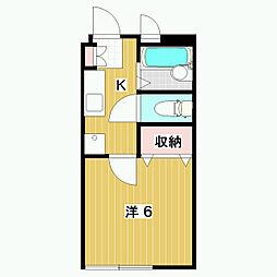 長野県松本市高宮南の賃貸アパートの間取り
