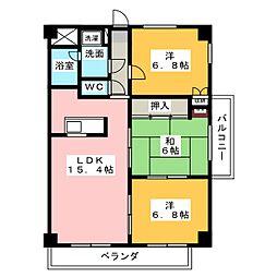 レジデンスMAX[2階]の間取り