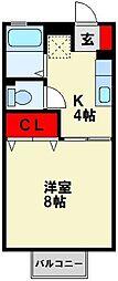 ファーネス水巻 B棟[2階]の間取り