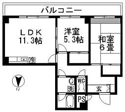 キャロット廻沢[602号室]の間取り