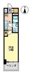 E-FLAT SECOND 6階1Kの間取り