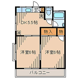 コーポ恵[2階]の間取り