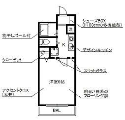 愛知県名古屋市昭和区石仏町2丁目の賃貸マンションの間取り