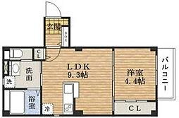 Plaisir deux京町堀[5階]の間取り