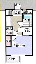 ウイング散田[2階]の間取り