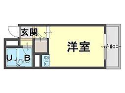 シャルマンフジ和泉大宮弐番館[4階]の間取り