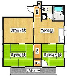 ハイム平戸B[3階]の間取り