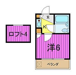 アミューズメント21芝第2[202号室]の間取り