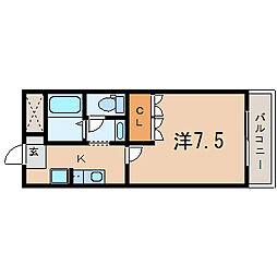 滋賀県守山市播磨田町の賃貸マンションの間取り